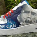 Sneakers with Barack Obama portrait