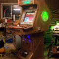 Beautiful Hand-Made Steampunk Arcade Games Cabinet