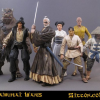 The Samurai Wars, Figures of Star Wars Characters Dressed in Samurai Clothes